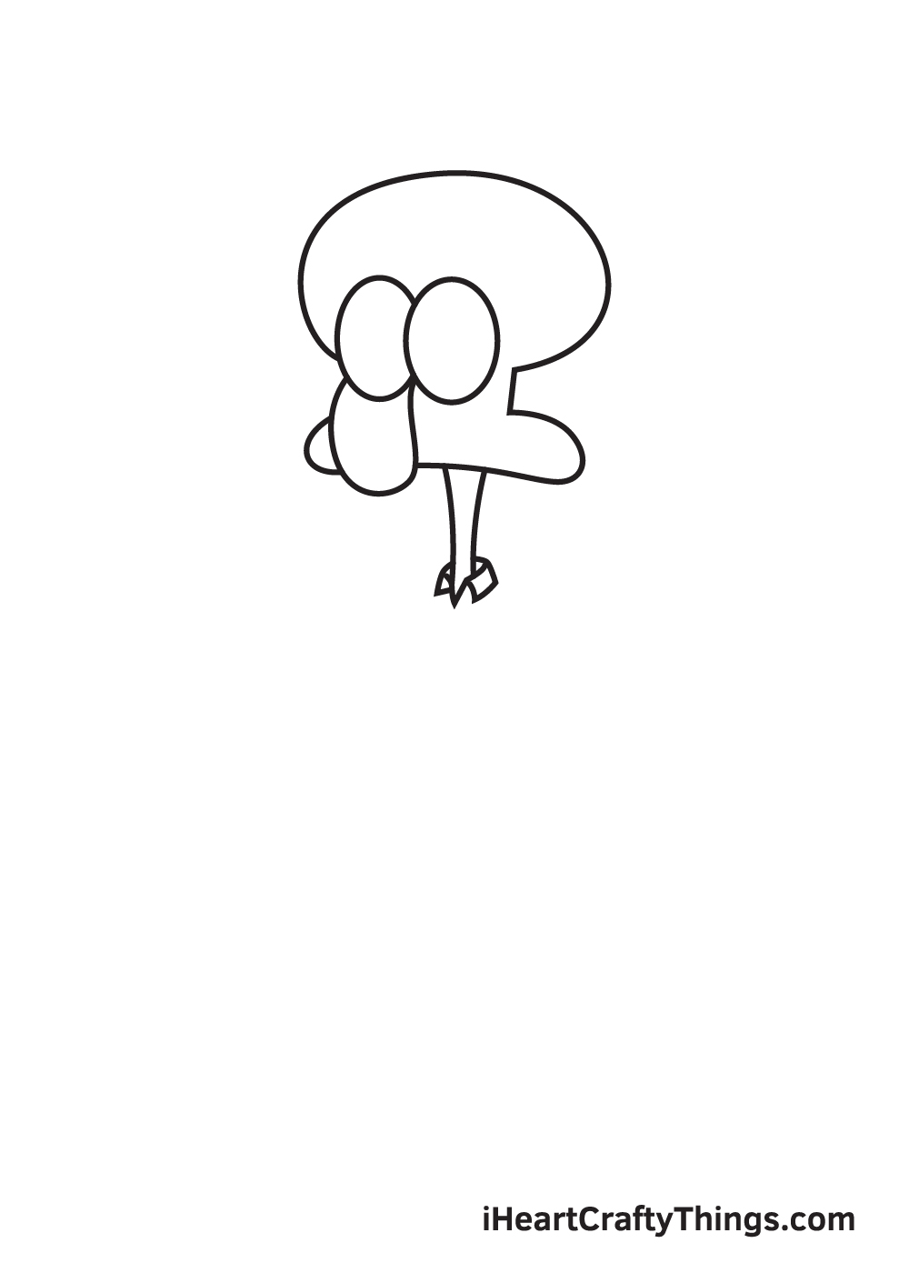 drawing Squidward step 3