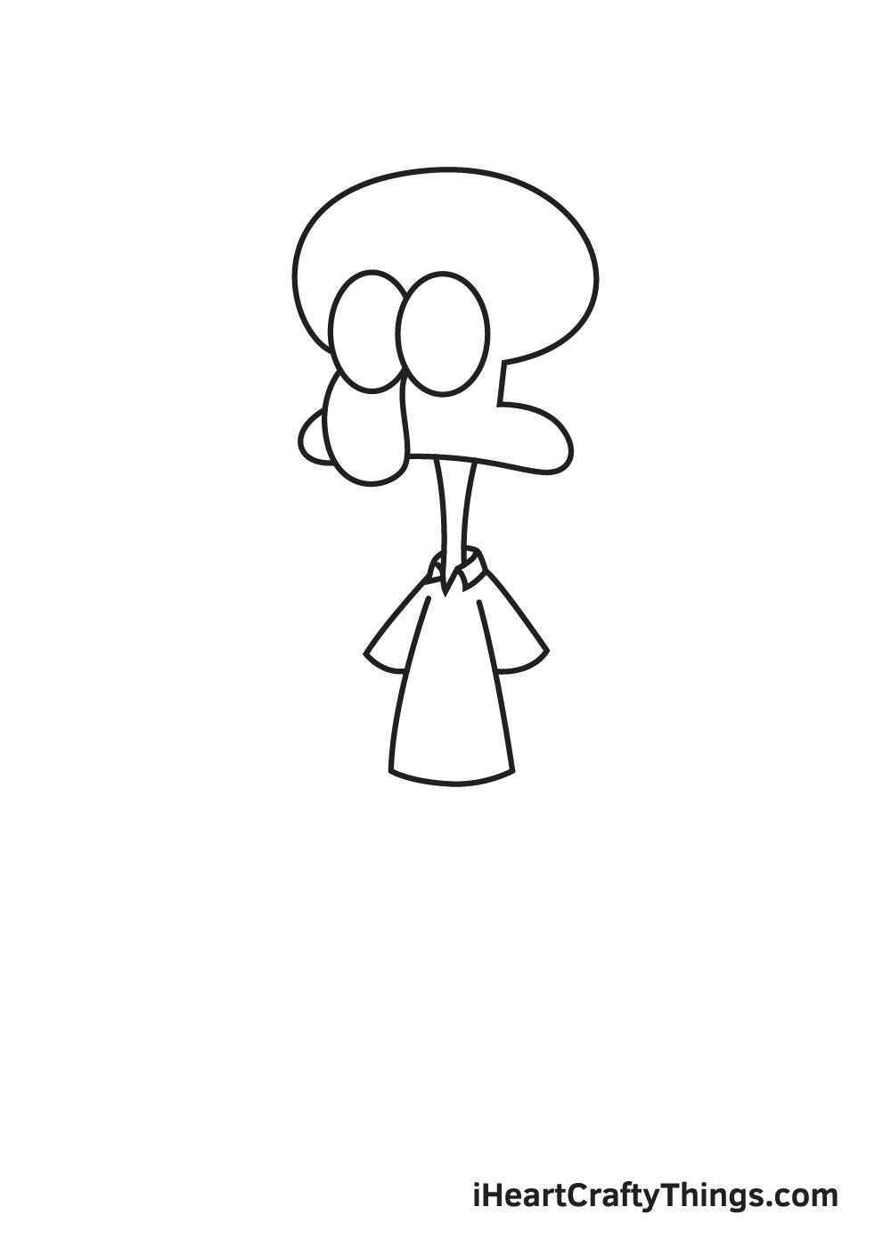 drawing Squidward step 4