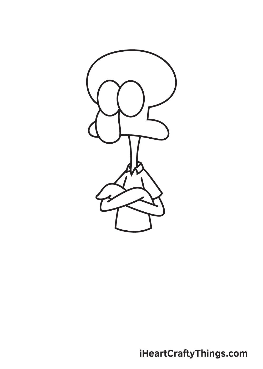 drawing Squidward step 5