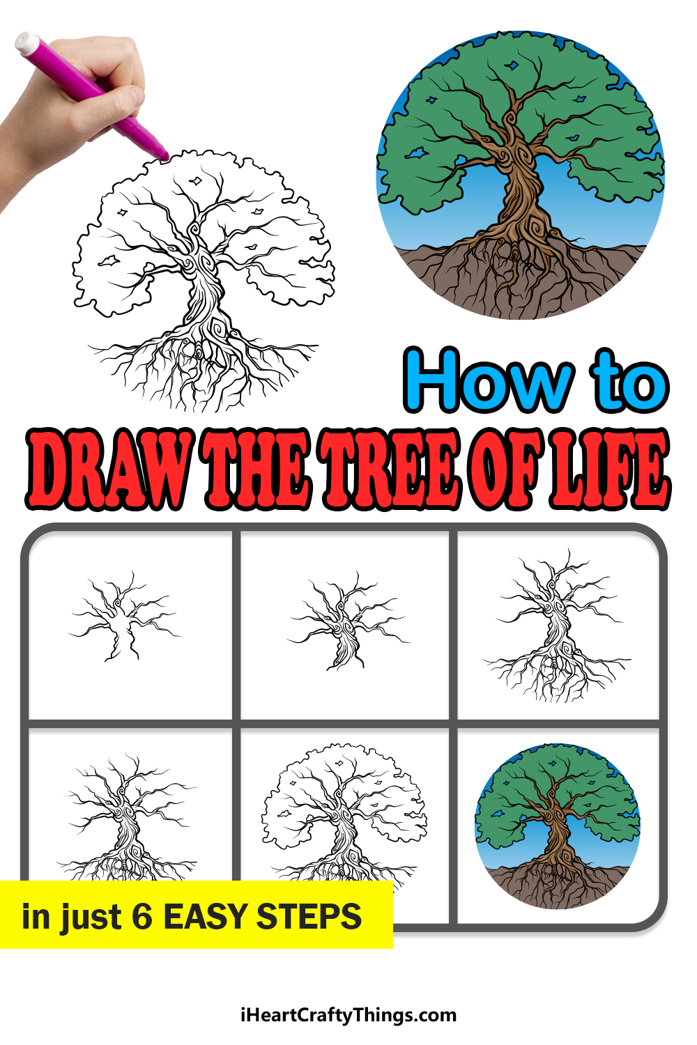 how to draw the tree of life in 6 easy steps
