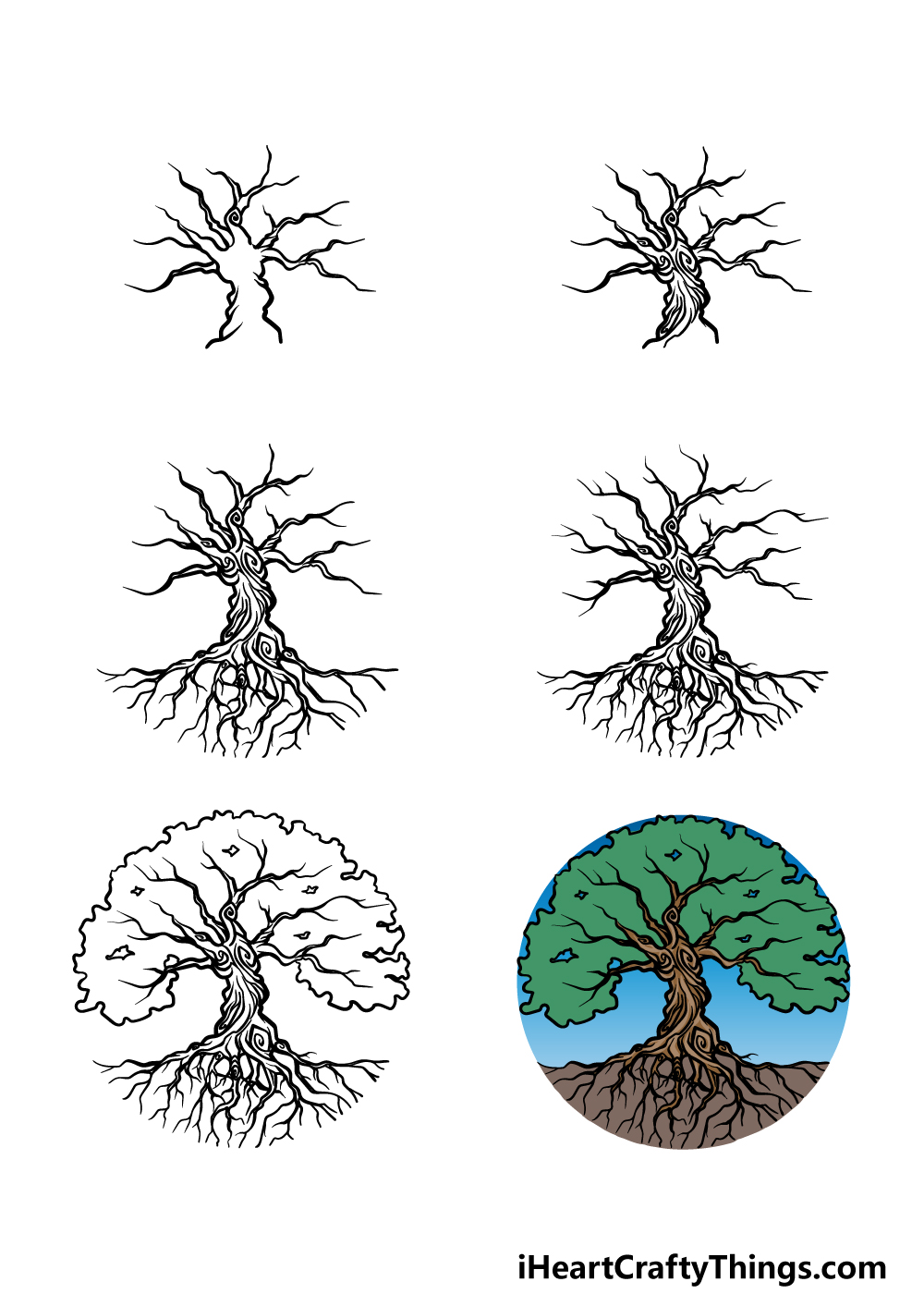 how to draw the tree of life in 6 steps