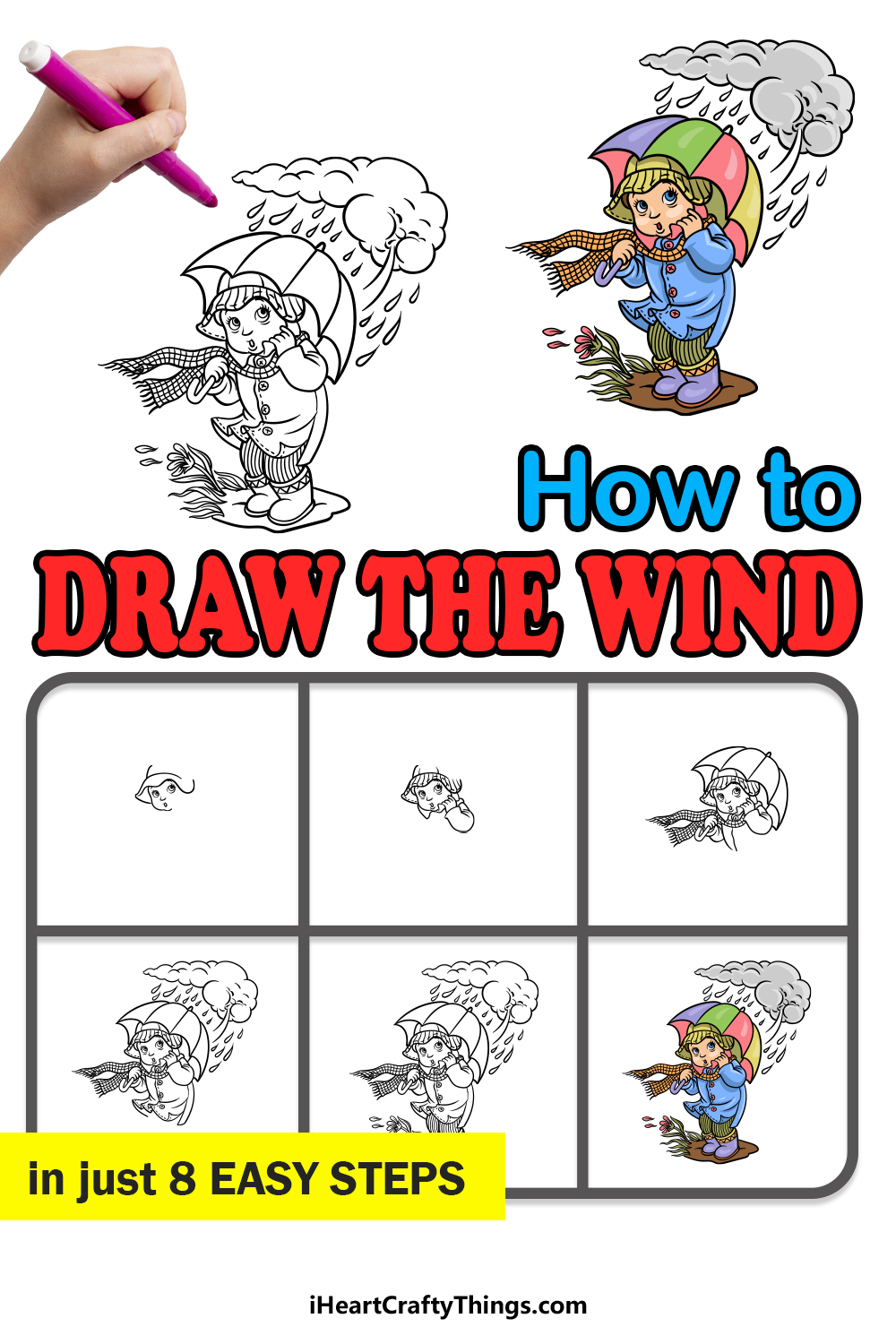 how to draw the wind in 8 easy steps