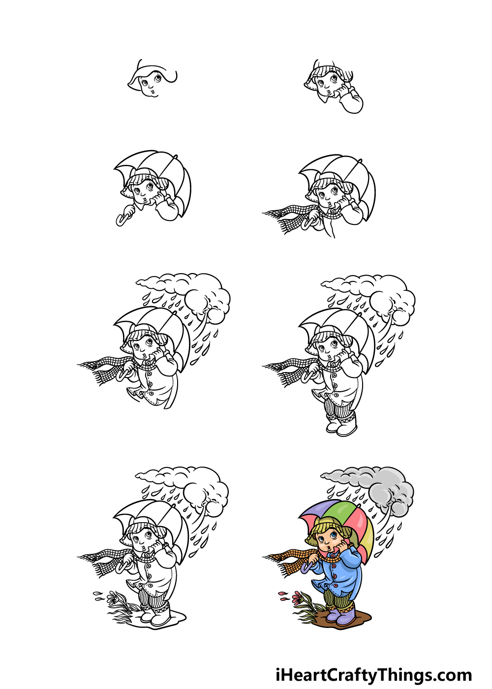how to draw wind in 8 steps