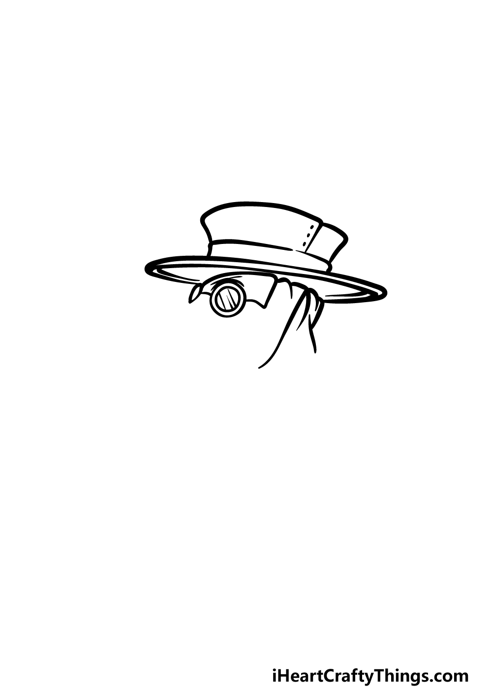 drawing a plague doctor step 1
