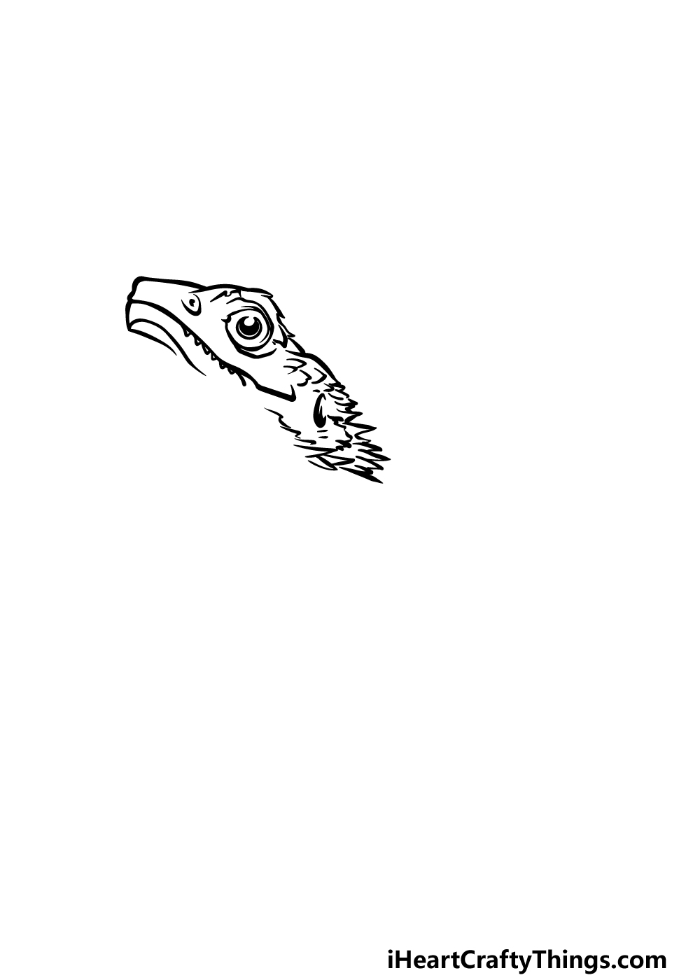 drawing a bearded dragon step 1