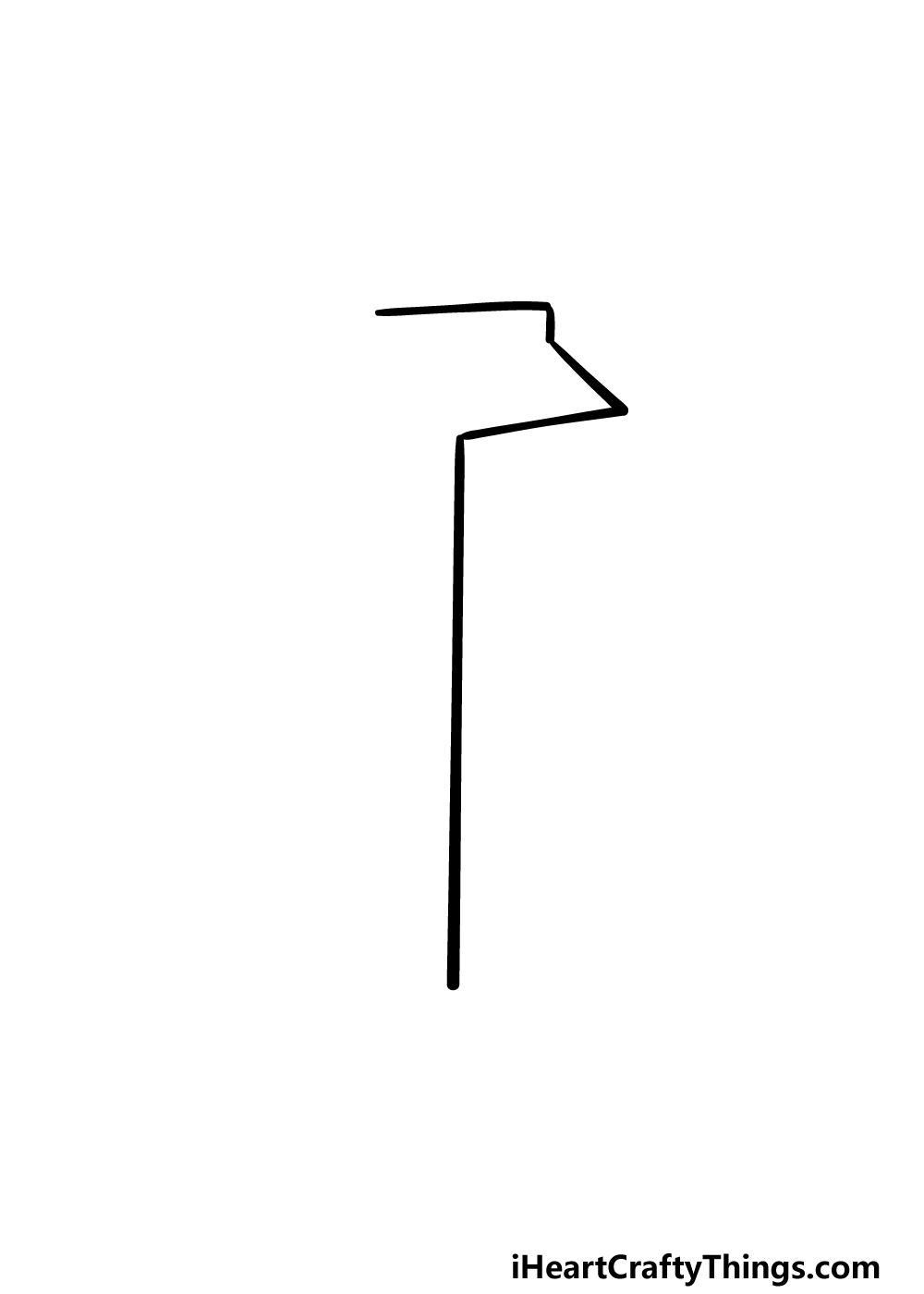 drawing a milk carton step 1