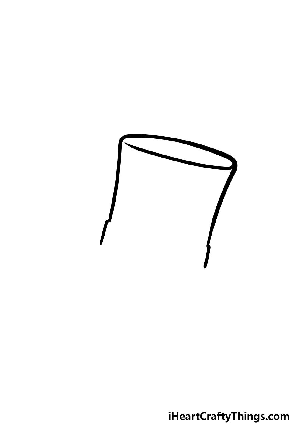 drawing top hat step 1