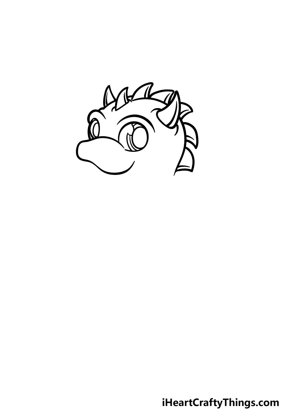 drawing baby dragon step 1