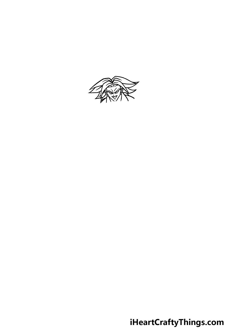 drawing Broly step 1