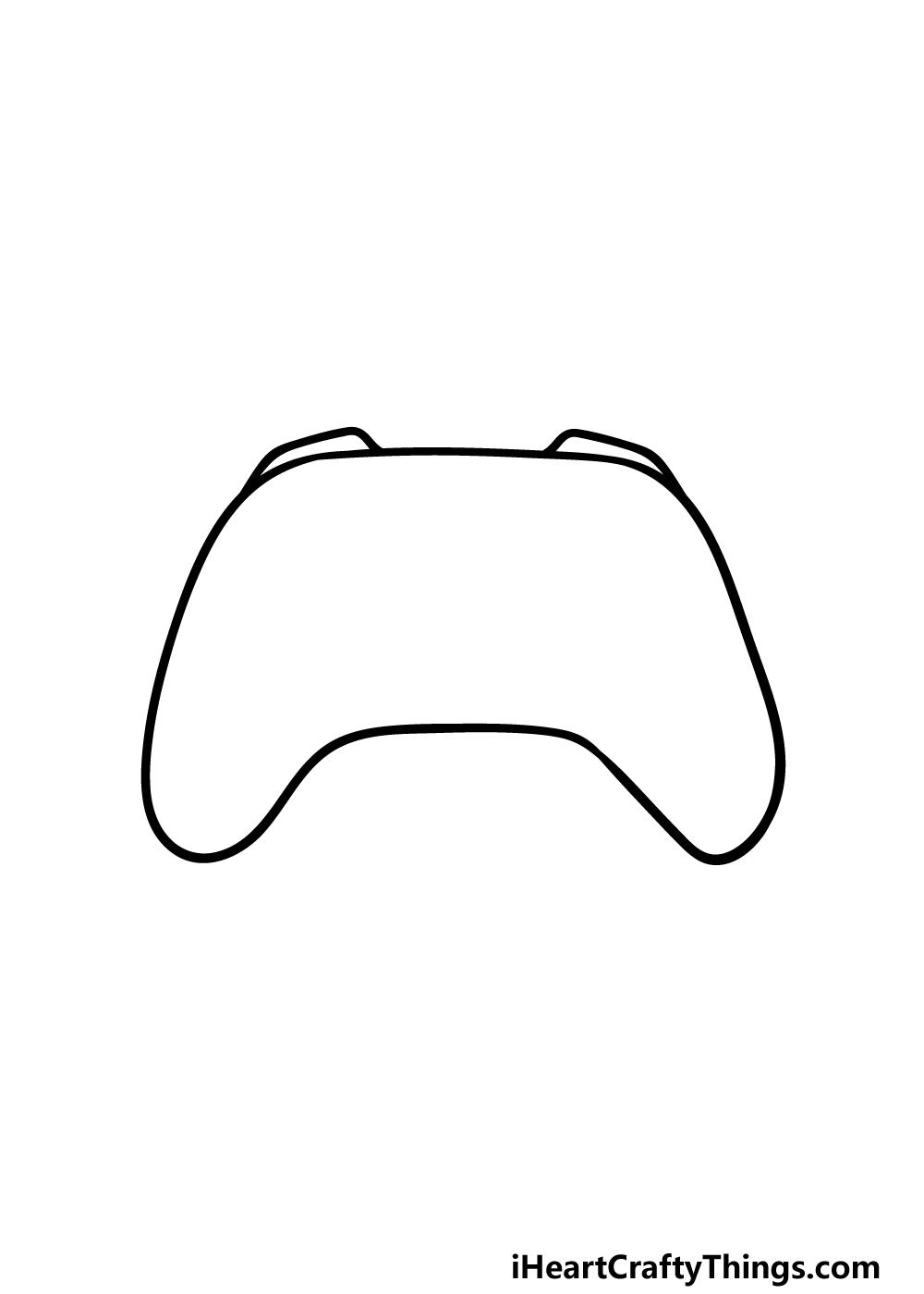 drawing an Xbox Controller step 1