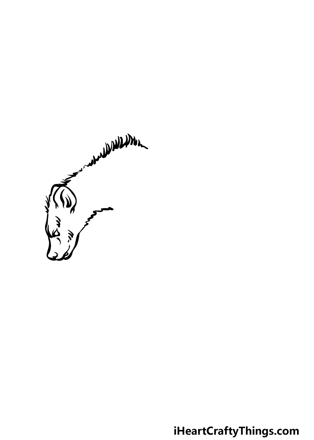 how to draw a hyena step 1