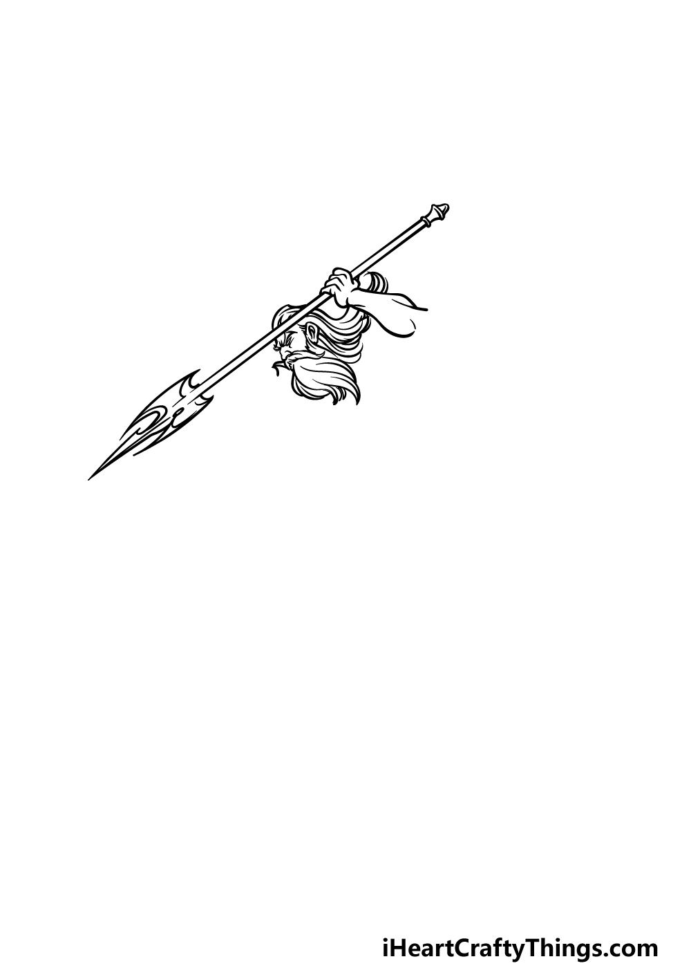 how to draw Poseidon step 1
