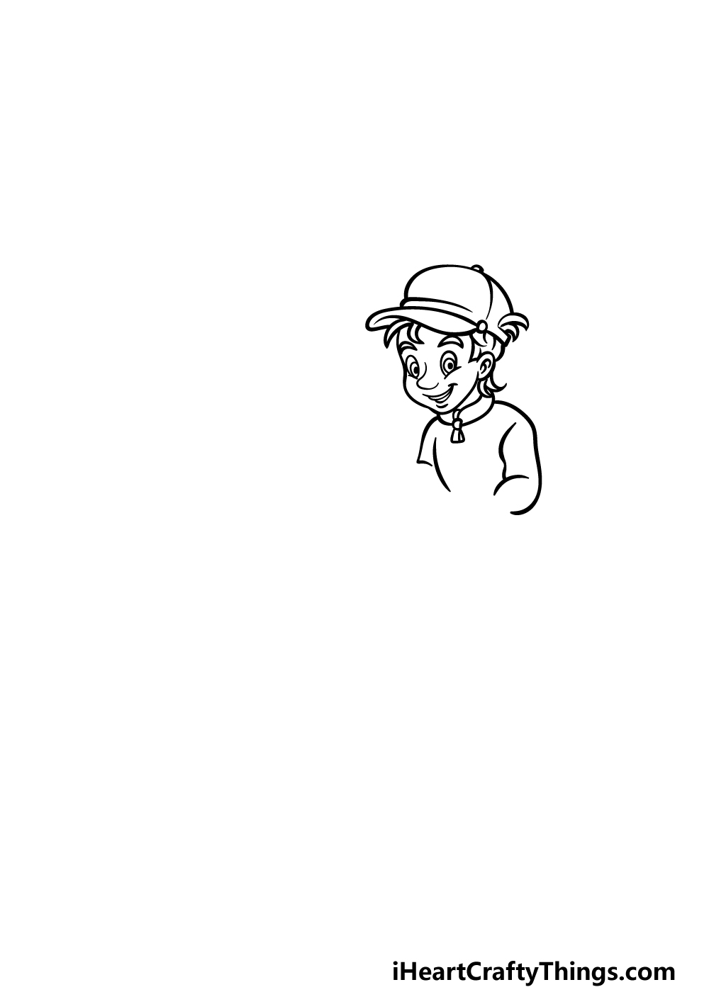 how to draw fishing step 1