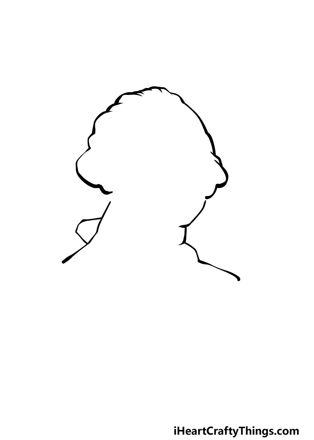 how to draw George Washington step 1