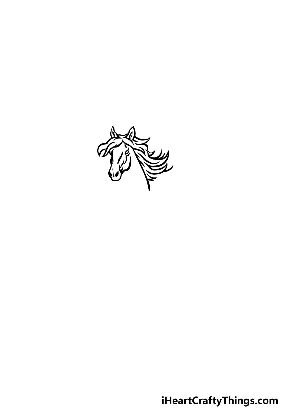 how to draw Pegasus step 1
