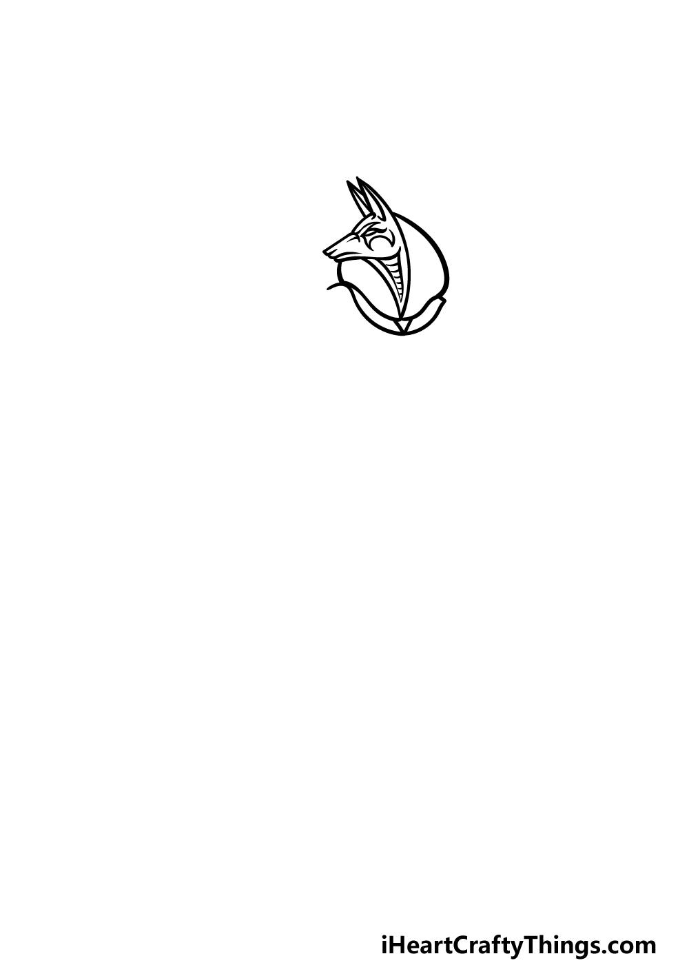 drawing Anubis step 1
