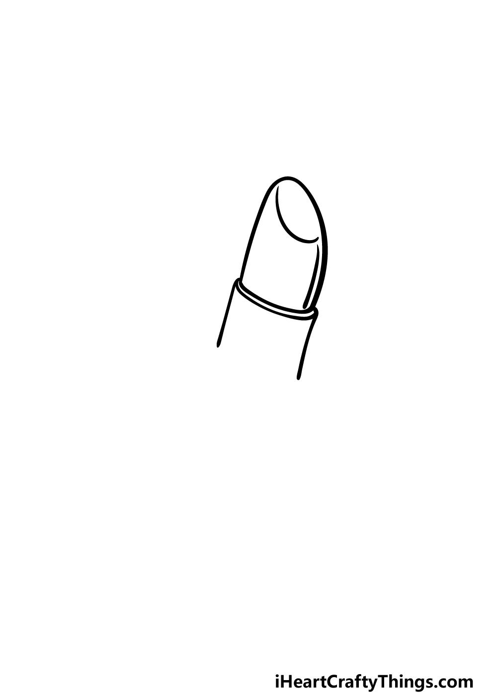 how to draw a lipstickstep 1