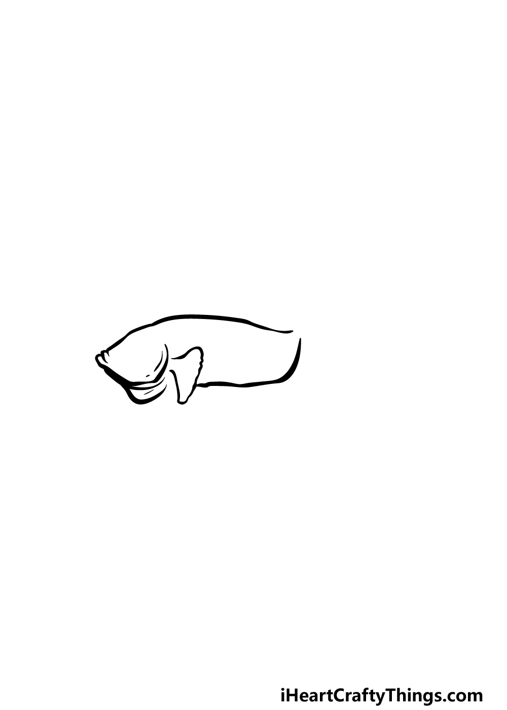 how to draw a Betta Fish step 1
