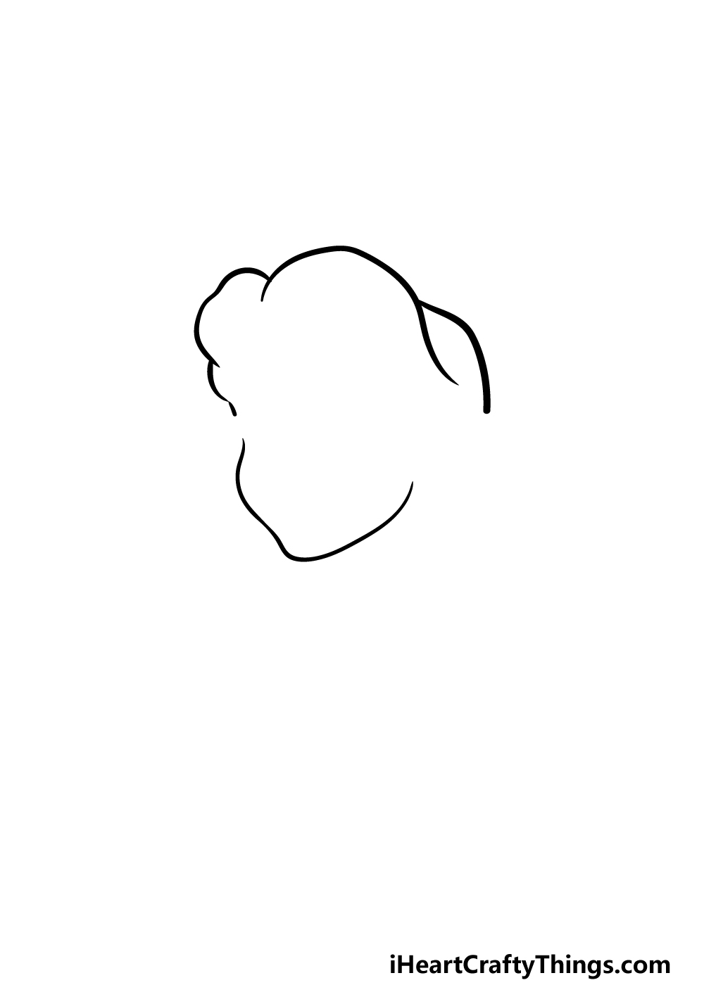 how to draw Belle step 1