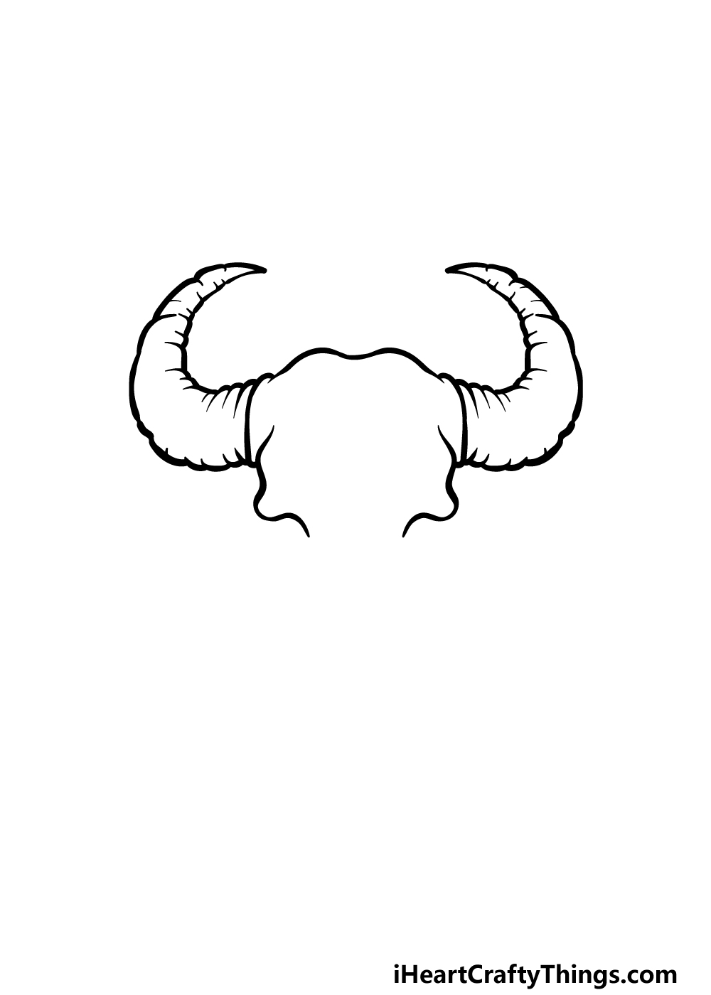 how to draw a bull skull step 1