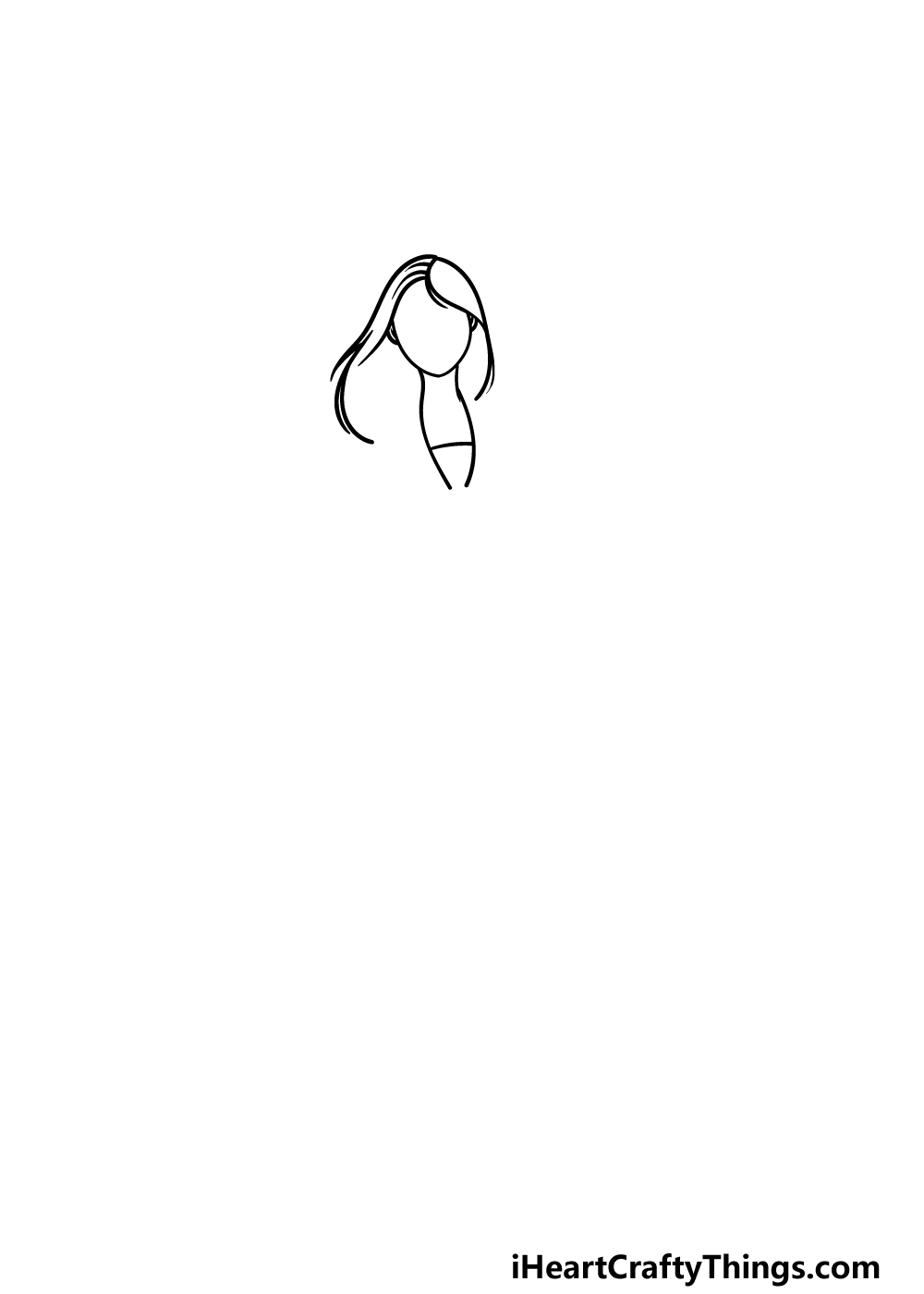 drawing Mulan step 1