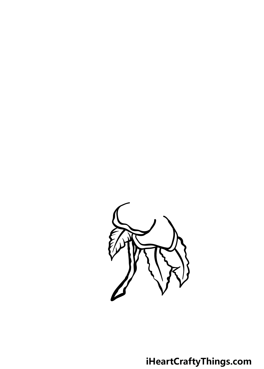 how to draw magnolia flower step 1