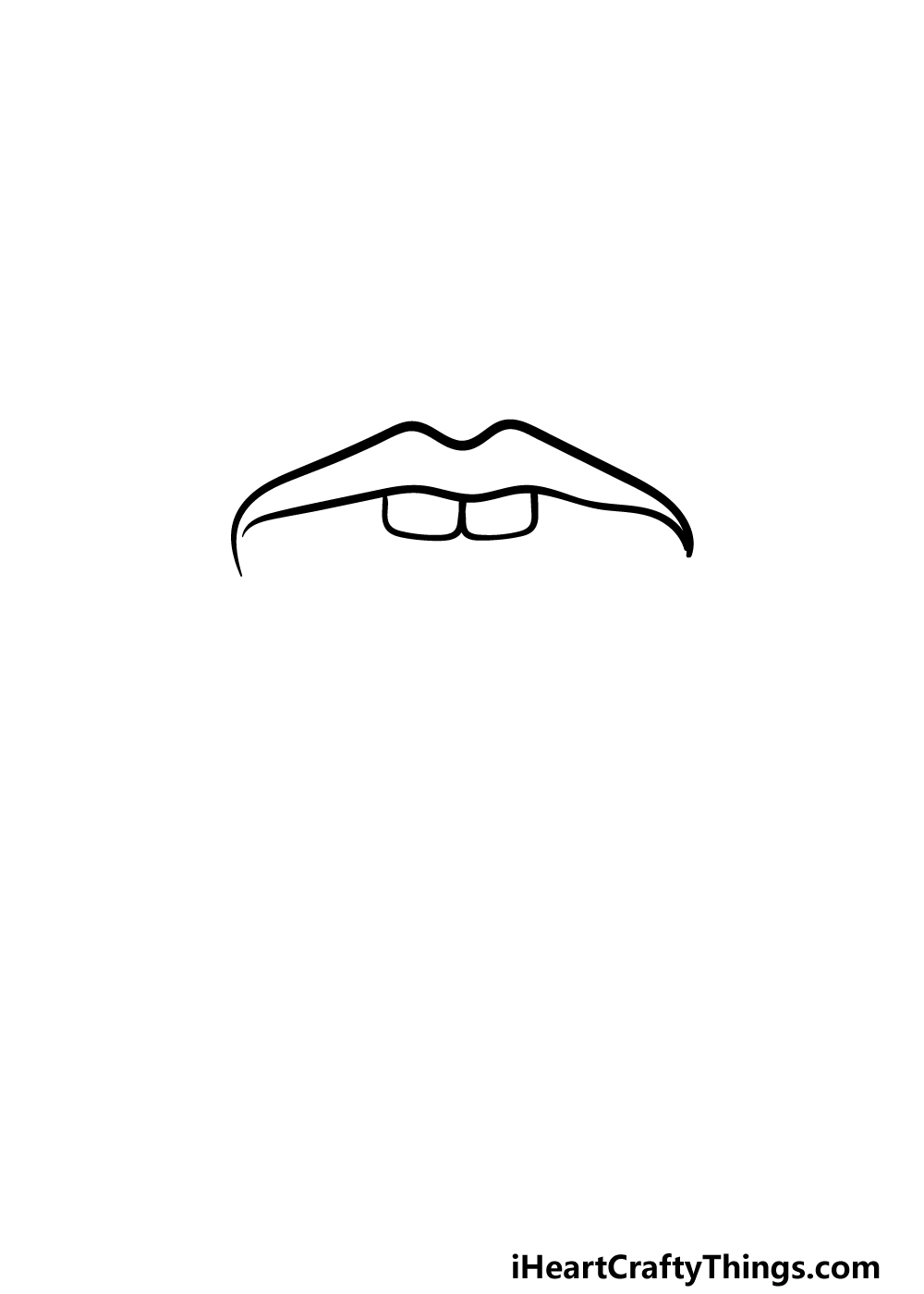 how to draw a tongue step 1