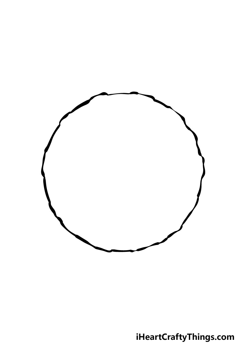 how to draw a full moon step 1