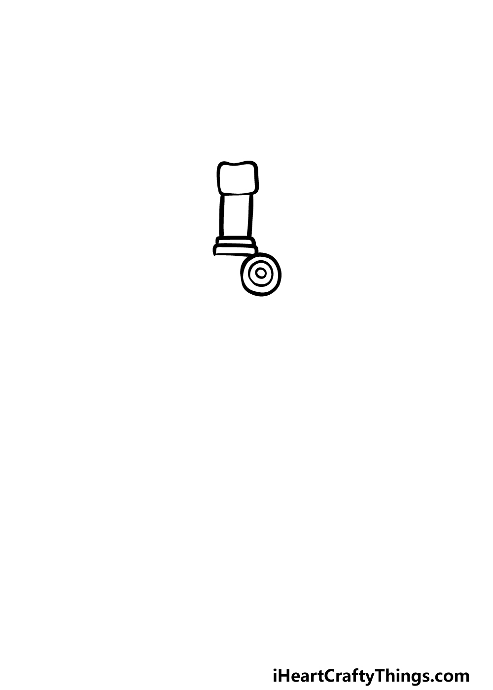 how to draw a microscope step 1