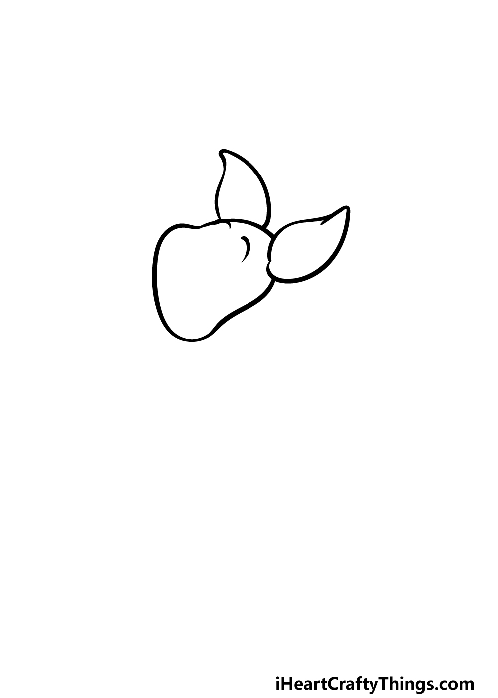how to draw Piglet step 1