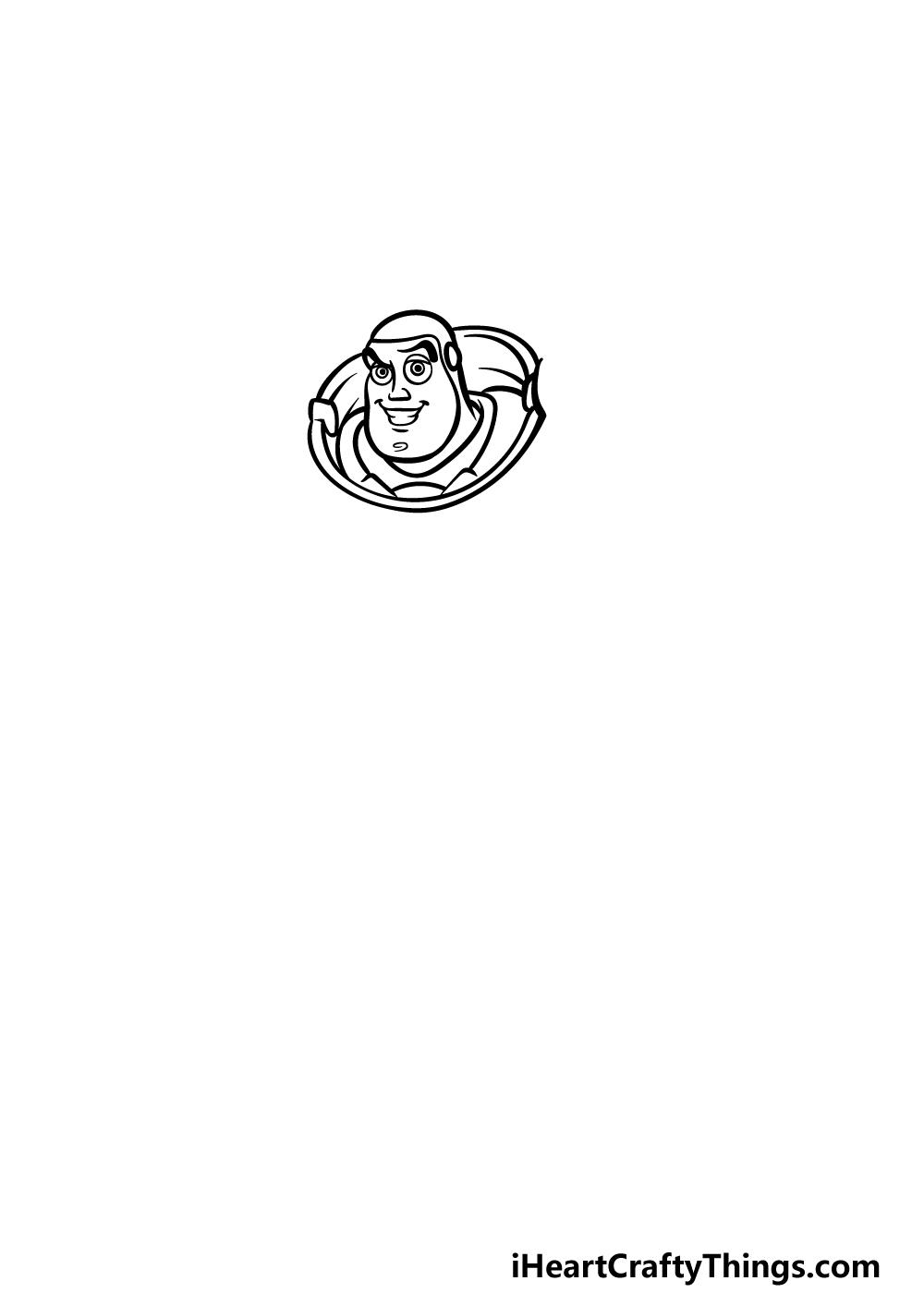 drawing Buzz Lightyear step 1