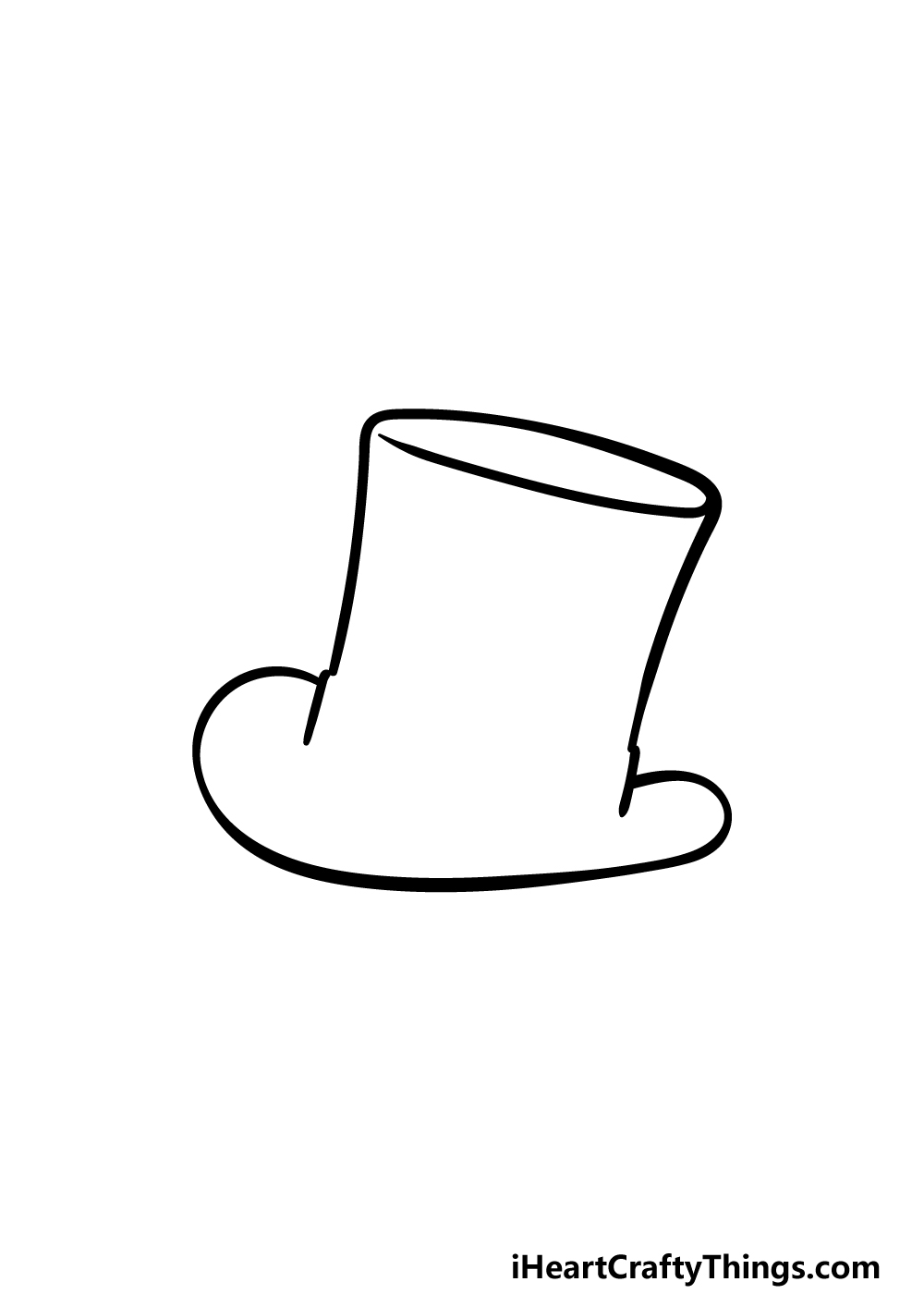 drawing top hat step 2