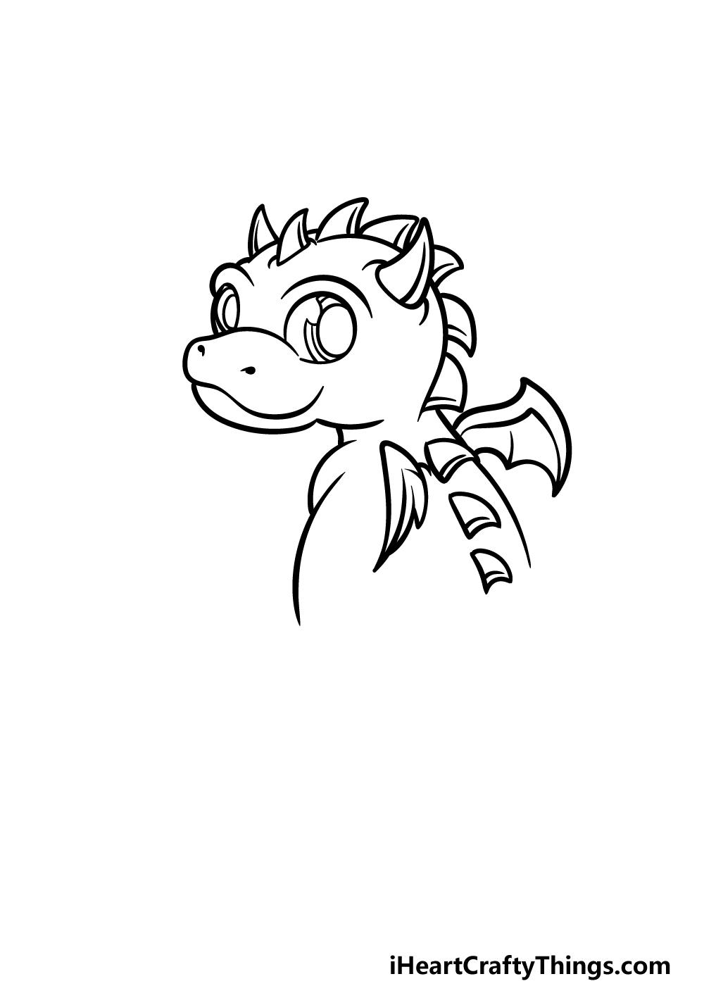 drawing baby dragon step 2