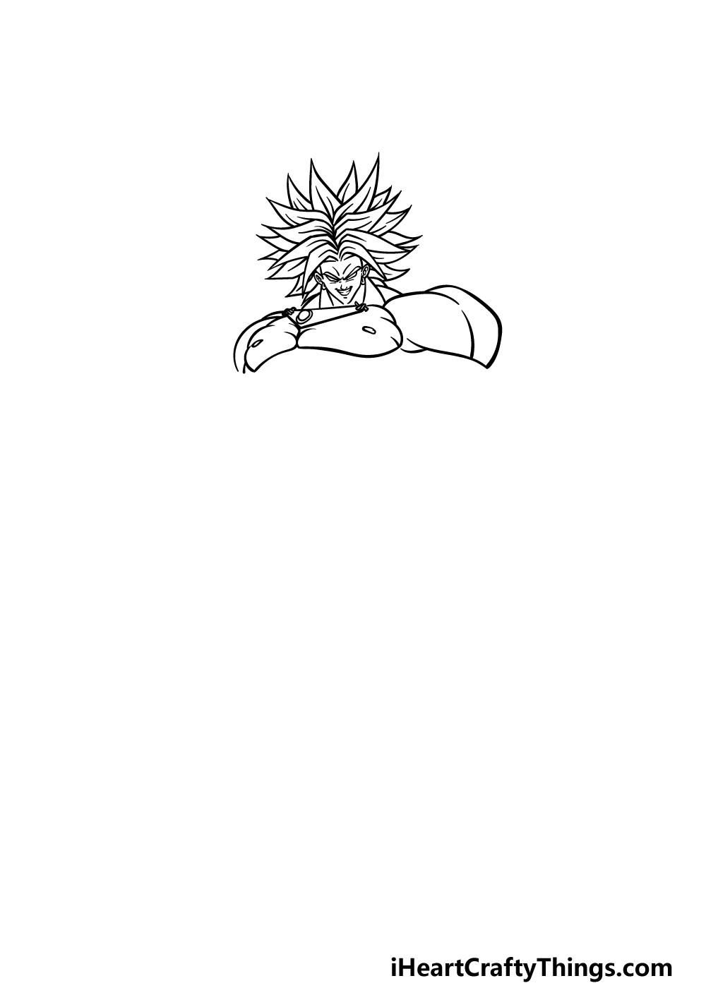 drawing Broly step 2
