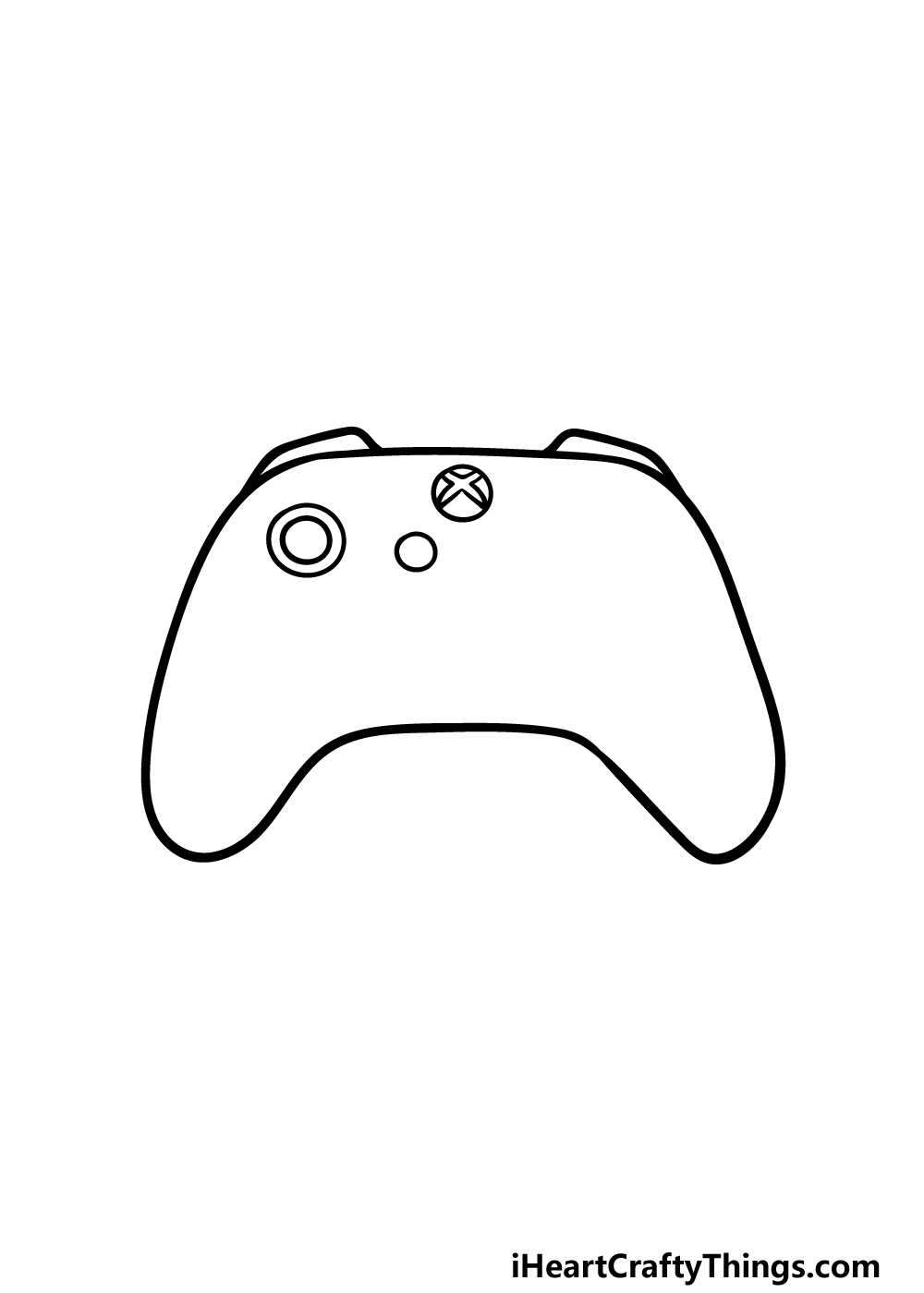 drawing an Xbox Controller step 2