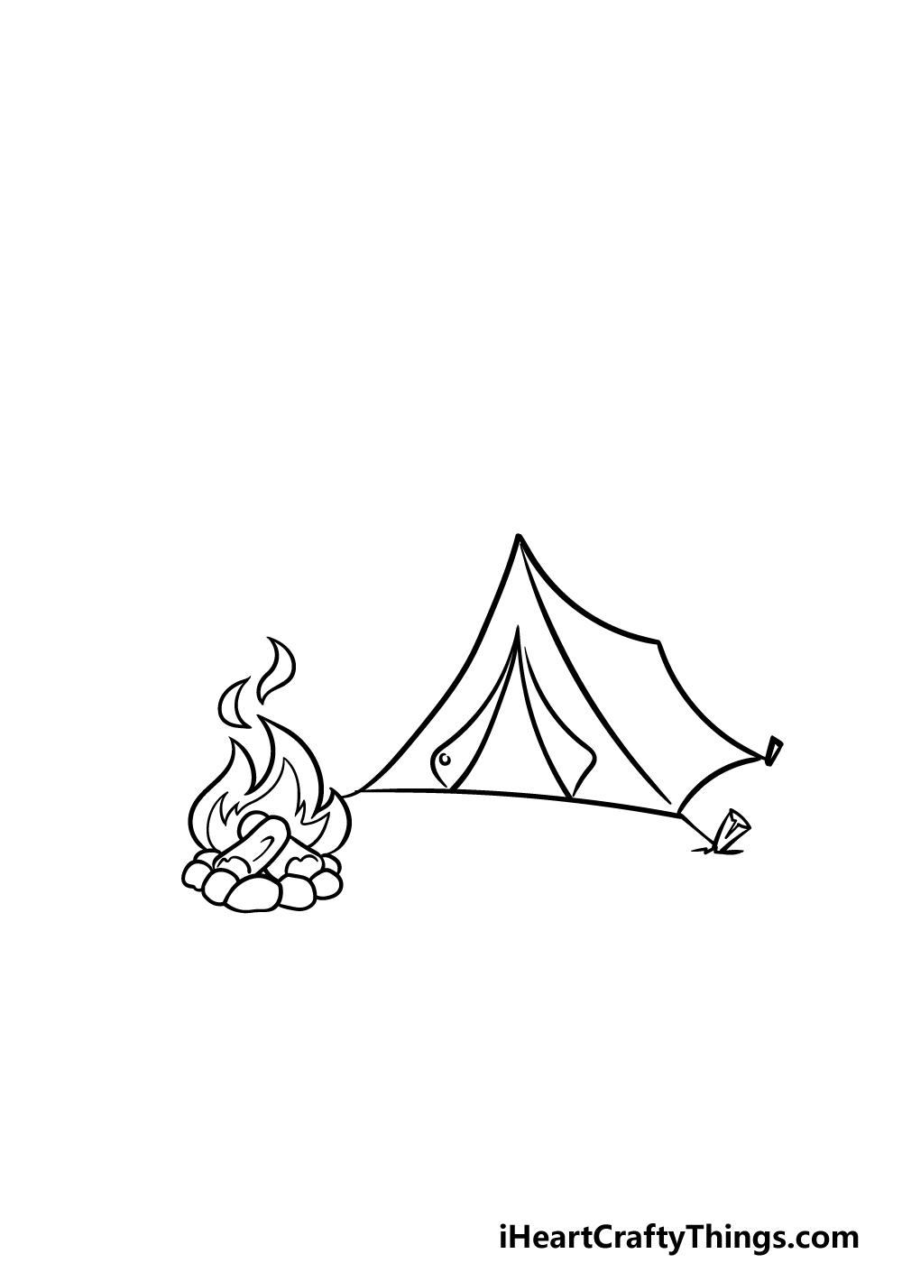 drawing camping step 2