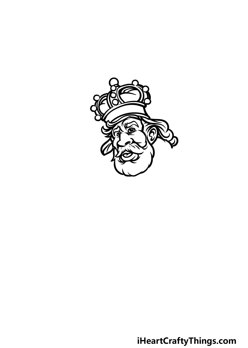 how to draw a King step 2