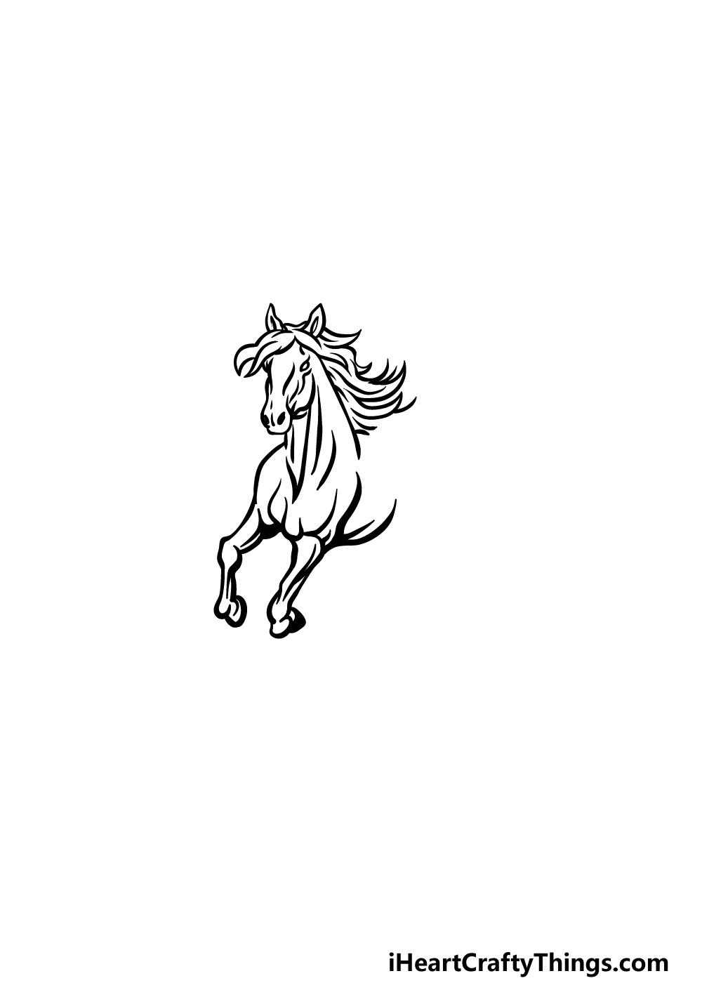 how to draw Pegasus step 2