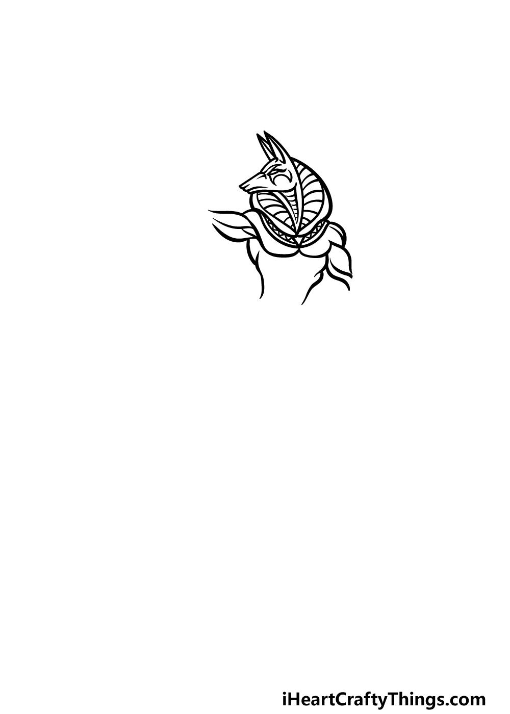drawing Anubis step 2