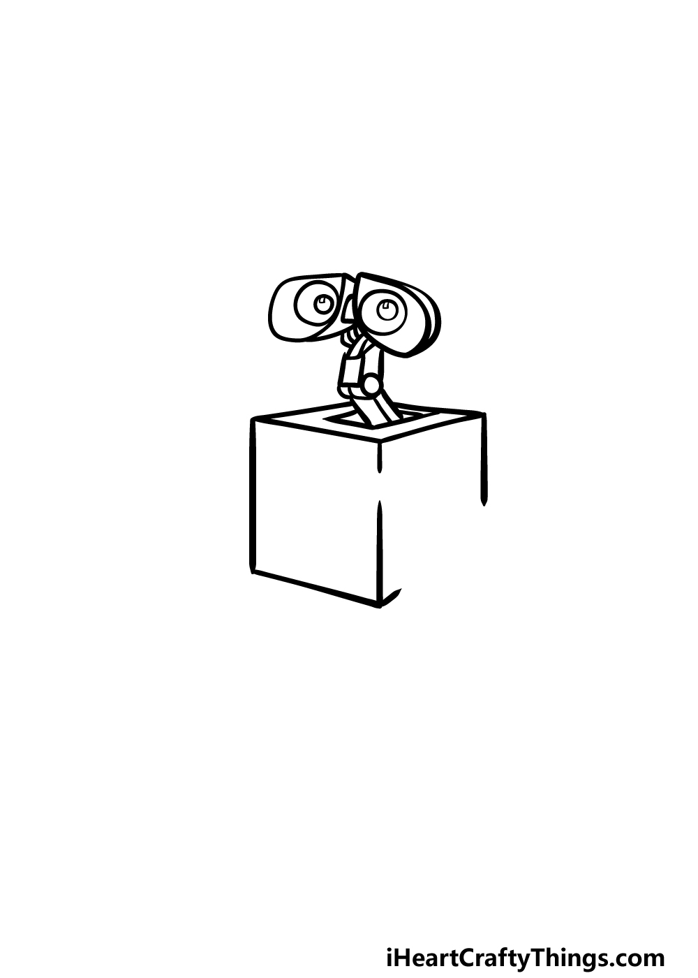 how to draw Wall-E step 2