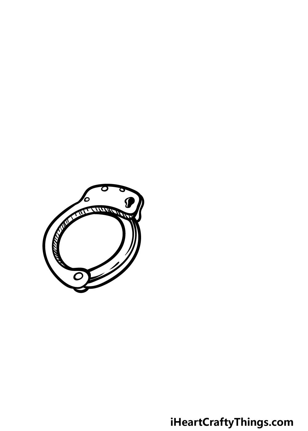 drawing handcuffs step 2