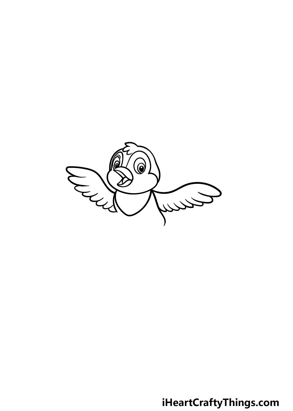 how to draw a cartoon bird step 2