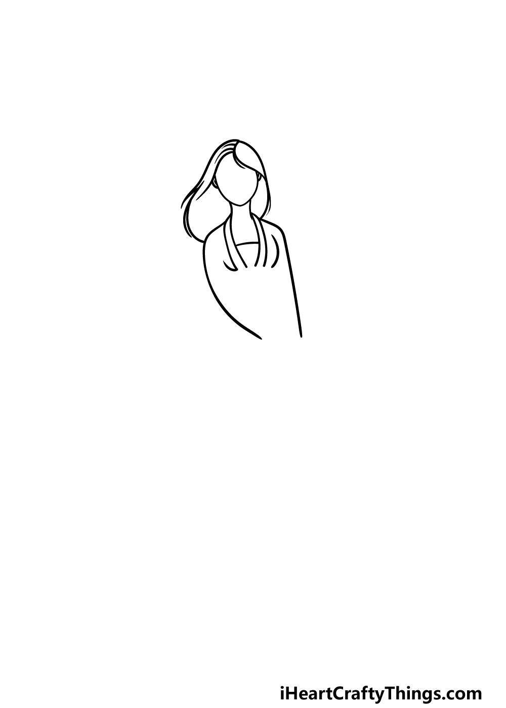 drawing Mulan step 2