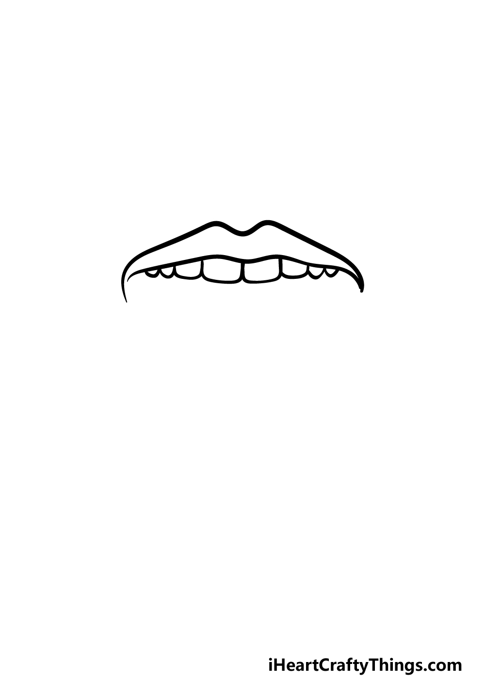 how to draw a tongue step 2