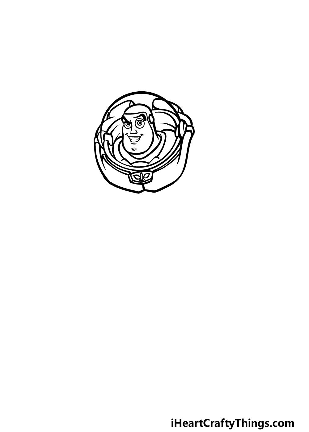 drawing Buzz Lightyear step 2