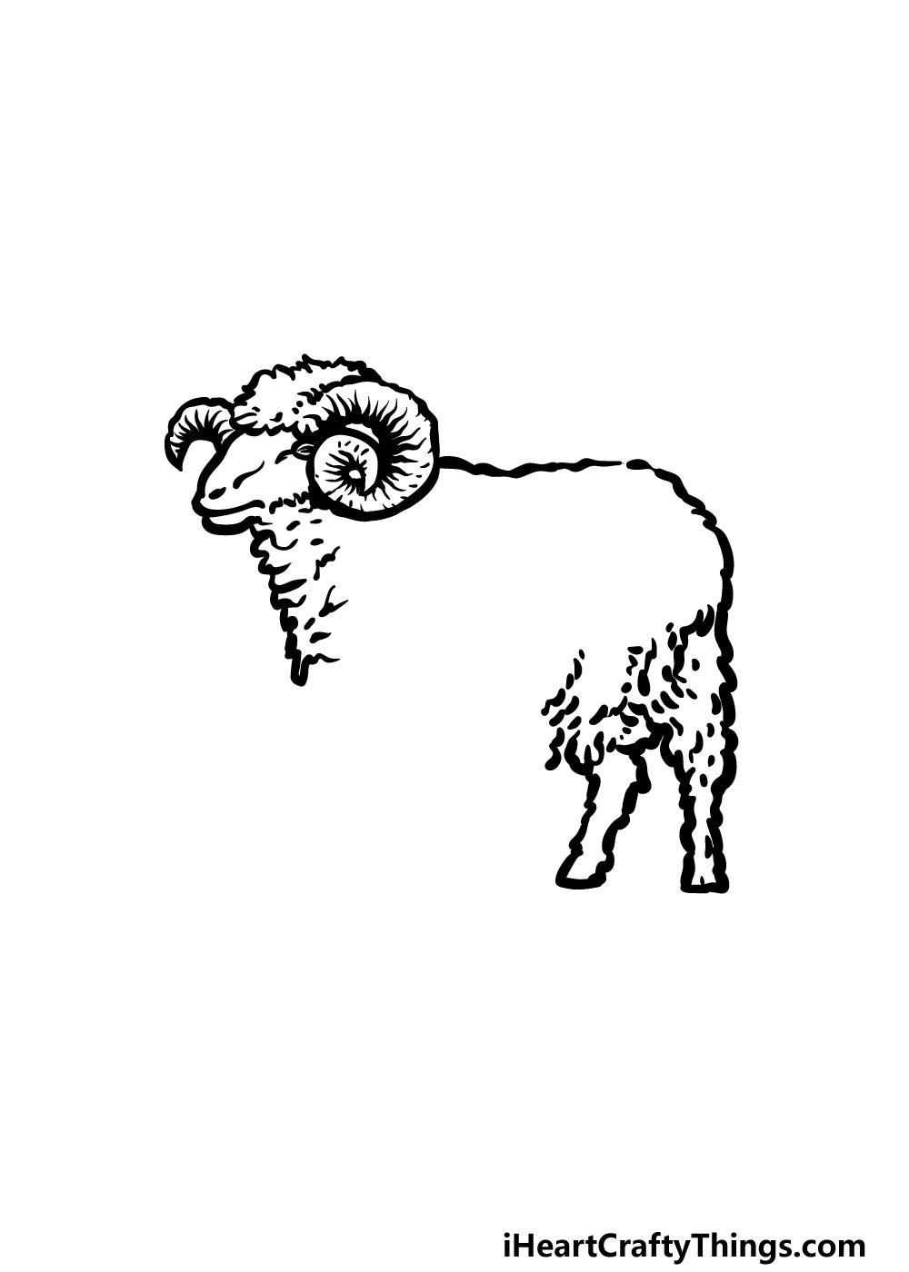 drawing a ram step 2