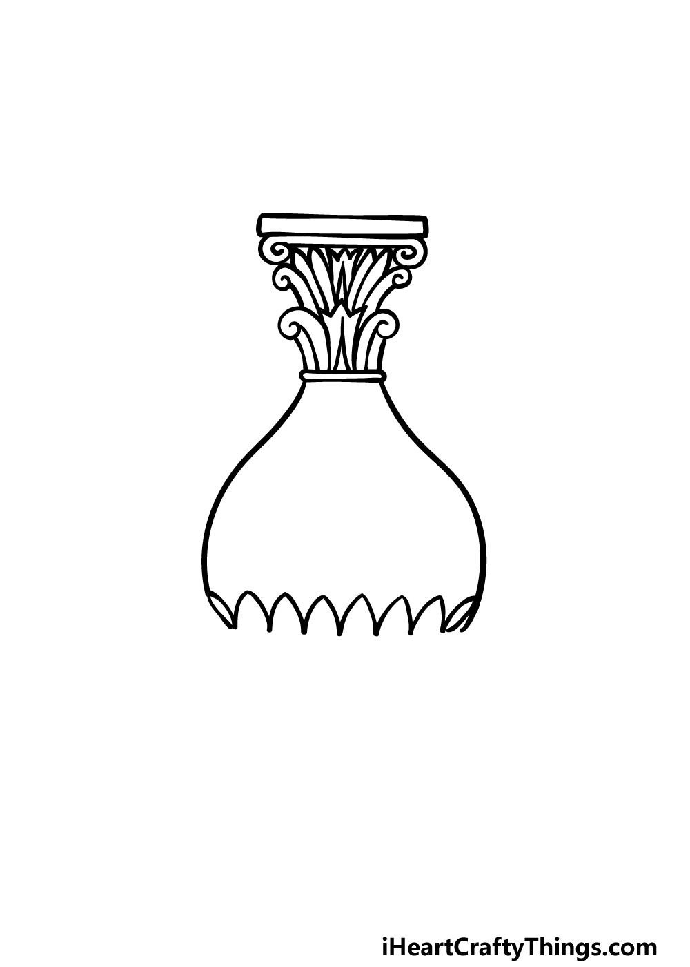 drawing a vase step 2