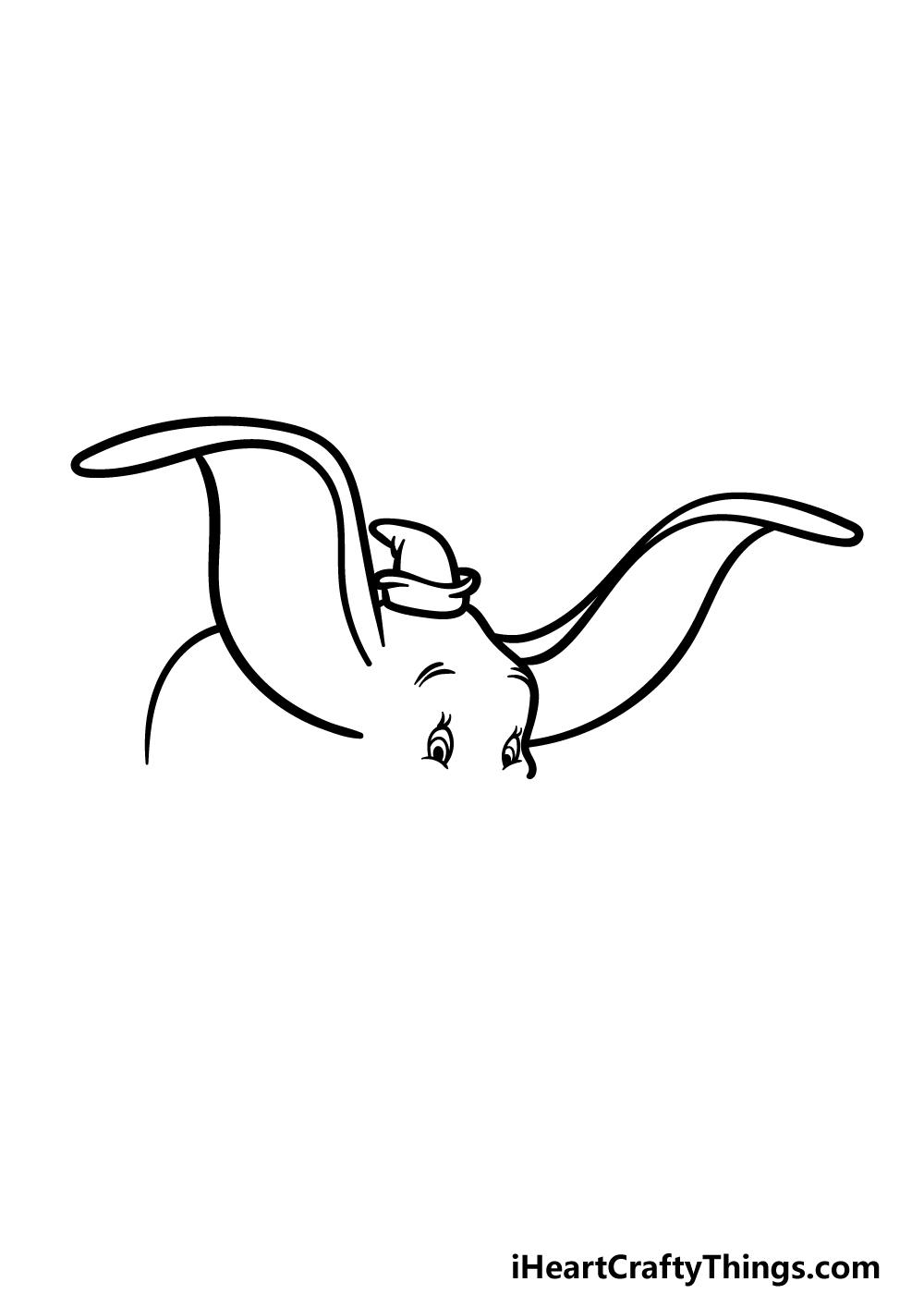drawing Dumbo step 2