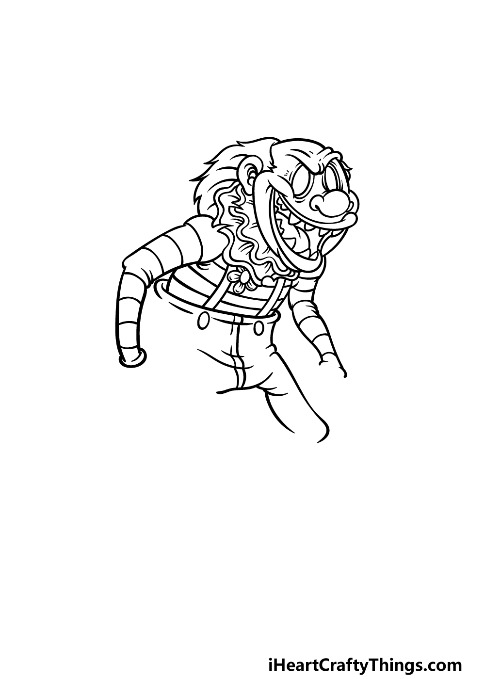 drawing a scary clown step 3