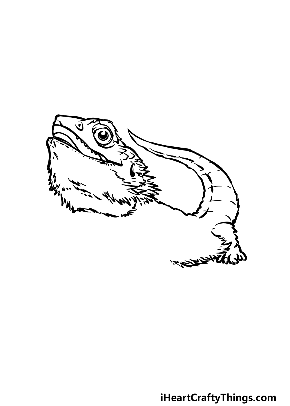 drawing a bearded dragon step 3